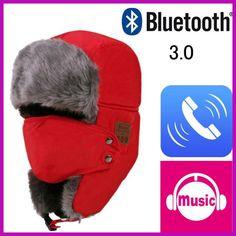 Bluetooth 3.0 Hat Unisex Thicken Warm Faux Fur Winter Beanie Hat Wireless Headset Smart Cap Outdoor Soft Cap
