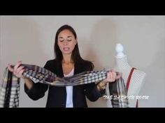 Ways of wearing a rectangle blanket scarf - YouTube