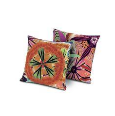 Girandole Neda Embroidered Cotton Throw Pillow