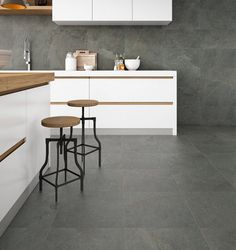 The enigmatic and deep beauty of #stone with Materia series. #ceramics #tiles #kitchen #interiors