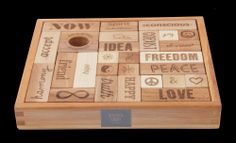 Peace & Love wooden blocks