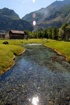 Sunny day in Russian village, Altai, Siberia Need your passport or visa contact…