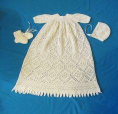 Rose Trellis Christening Gown PDF Pattern