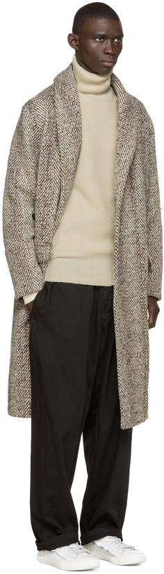 Lemaire Cream Wool knit Turtleneck