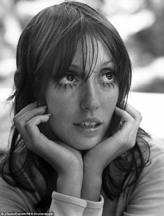 Windows to the soul: Shelley (seen here in 1970) was known for her doe eyes and waif figur...