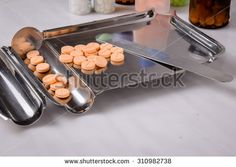 Stainless Steel drug Counting Tray and Spatula with medicine pills