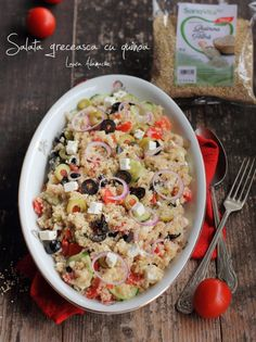 Quinoa, Snack Recipes, Healthy Recipes, Healthy Food, Pasta Salad, Main Dishes, Food And Drink, Lunch, Meals