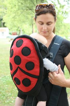 Preorder - Ladybug Baby Carrier Cover for Bjorn-style carrier -  quite possibly the best new baby gift ever
