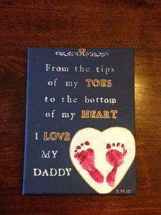Baby footprint daddy gift