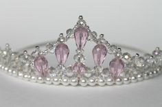 Pink Crystal Beaded Princess Tiara