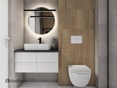 Bathroom Design Small, Modern Bathroom, Wc Design, White Wood, Bathroom Interior, Home Furniture, House, Toilets, Bathrooms