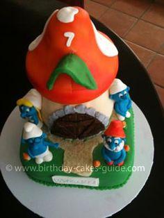 big smurf cake ideas