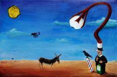 The Oracle (2011), 24x36 acrylic on canvas by Chris Lockhart
