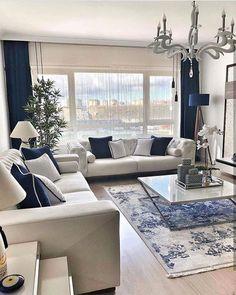 Love the look. Color scheme #Livingroomdesigns Amazing Spaces, My Room, Decoration, Closet Organization, Sweet Home, Dining Room, Sofa, Interior Design, Interior Decorating