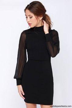 Mini vestidos negros para fiesta de noche con manga larga 2014 – 23 - https://vestidoparafiesta.com/mini-vestidos-negros-para-fiesta-de-noche-con-manga-larga-2014/mini-vestidos-negros-para-fiesta-de-noche-con-manga-larga-2014-23/