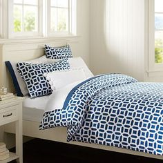 need everything for my bedroom, my husband has no say so, hehe. Peyton Duvet Cover + Sham, Navy #potterybarnteen