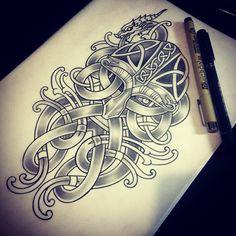 Desenhar nós vikings dá nó no cérebro. Conclusão: a arte viking é complexa. E eu…