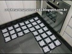 Padrão Tapete em L -  Artesanatos em Crochês Vanda