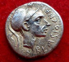 Catawiki,coins, numismatic, coins collection, monete pagina di aste on line  Roma Repubblica - Denario Cornelius Blasio 112.111 A.C.- argento