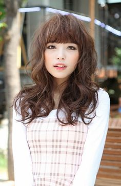 Cute Japanese Hairstyle with Bangs | Hairstyles Weekly-pin it from carden