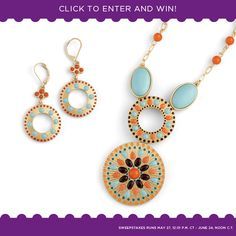 A different prize each day ... the Alicante earrings and necklace. www.liasophia.com/katiearbuckle1