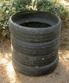 Old tyre Compost bin