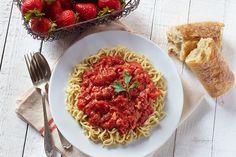 Strawberry Tomato Sauce with Smart Noodle Spaghetti