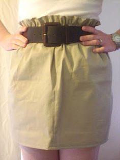 easy paper bag waist skirt instructions