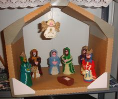 Plastic Canvas Nativity Made by My Sister | Flickr - Photo Sharing!