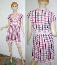 KERRY CASSILL Soft Cotton Gauze Striped Embroidered Quilted Batik India Dress 1...http://stores.shop.ebay.com/vintagefluxed