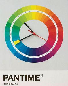 Pantone clock - oh yeah!