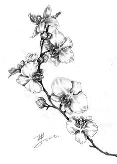 Арт для тату орхидея