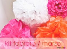 crealoo Kit FEB/MAR 2013: Pompones de Papel de Seda