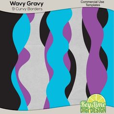 Wavy Gravy Curvy Borders   Key Lime Digi Design