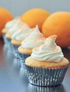 Vegan, Gluten Free Orange Creamsicle Cupcakes by Spabettie Cupcake Flavors, Cupcake Recipes, Baking Recipes, Cupcake Cakes, Dessert Recipes, Cupcake Party, Baking Tips, Vegan Sweets, Vegan Desserts