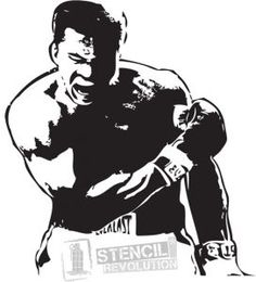 Muhammad Ali Stencil