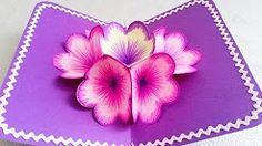 carte 3d fleur - YouTube