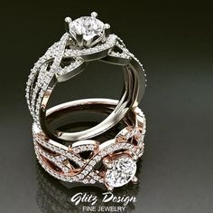 Scrollwork and twists create a bigger looking engagement ring. This statement piece is a unique styled engagement ring that will be adorned by the love of your life!