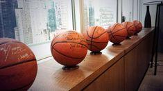 Harvey's beloved autographed basketballs