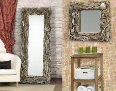 Teak Driftwood Floor Mirror | Floor mirror, Teak and Driftwood