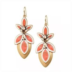 "Hibiscus Coral Flower Summer Stud/Drop Earrings! Perfect for Summer, Hibiscus-Floral, Coral & Gold, Chandelier convertible drop earrings!   Convertible means these can be worn 3 different ways! See pics! Studs or drop earrings- with or without Gold disc behind Flower!   Antique Gold-Brass Plating  Nickel & Lead Free  ➖Prices Firm, Bundle for 20% Discount ➖""Trade"" & Lowball Offers will be ignored ➖Sales are Final, Please read Description & Ask Any Questions! Boutique Jewelry Earrings"