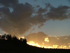 """Natural cloudscape photo taken in Billings, MT. I call this """"Sunset on Fire"""""""