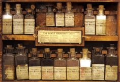 vintage bottles.  as a pharmacist these fascinate me.