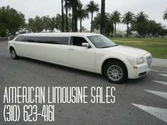 2010 Chrysler 300 White 140-inch 12 Pass. Limousine #1232 - $64995   Visit us at our website: Americanlimousinesales.com