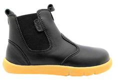 Bobux Outback Boot Kid's Black Pull On Chelsea Style Dealer Ankle Boots New