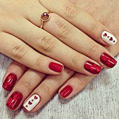 """маникюр шеллак """"С любовью!"""" на 14 февраля!❤️ спасибо огромное @dessole_studio  за такую сказку на пальчиках!) #Padgram"""