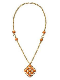 Trina Turk orange pendant necklace | Banana Republic