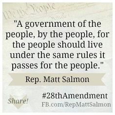 What all is there to know about the 28th Amendment?