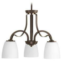 Progress Lighting Merge Antique Bronze Mini-Chandelier | P4315-20 | Destination Lighting