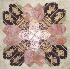 Patchwork of the crosses block- EPP (English paper piecing)
